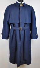 GANT Vintage Navy Mac Over Coat + Wool Lining Jacket Large Trench L Mantel 42 44