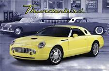 Old Print. Yellow 2001 Ford Thunderbird Concept Car