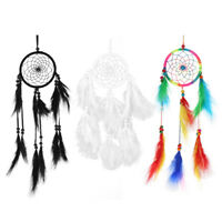 Handmade Large Dream Catcher w/ Feather Pendant Car Wall Hanging Home Decor Gift