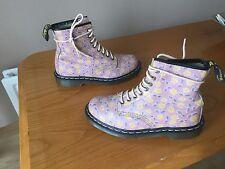 Vintage Dr Martens 1460 Pink floral pascal boots UK 6 EU 39 kawaii punk skin hip