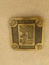 Olympic 1980 Lake Placid Brass Belt Buckle-True Distance Inc.