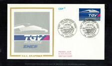 "Fdc-1524*France 1989 *T.G.V. Atlantique"" - Fdc w Cef Cachet"