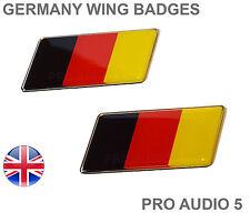 2x Bandera De Alemania ala / Fender Insignias-alemán Universal coche van-Reino Unido rápido post