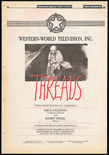THREADS__Original 1985 Trade Print AD / poster__TV movie promo__MICK JACKSON
