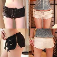 Sexy Women Denim Jeans Shorts Ladies Hot Pants Low Waist Super Mini Short Pants