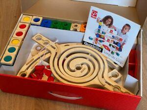 Hape Quadrilla Loop de Loop wooden marble run, parts complete, boxed