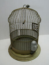 OLD VINTAGE HENDRYX BRASS DOME BIRD CAGE HOUSE FEEDER COLLECTIABLE