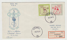 Turkey summer olympic games in Melbourne FDC 1956