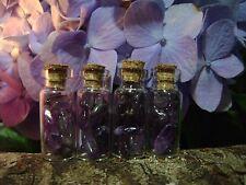 4 TUMBLED AMETHYST STONES BOTTLES potion jars POLISHED ROCKS purple crystals lot