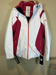 NWT Descente Danica Ski Jacket White And Pink $324.99 Womans Size 8