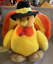 """vintage 1994 Yes Club plush Thanksgiving turkey 14"""""""