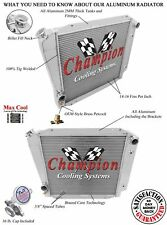 4 Row Perf Champion Radiator for 1966 - 1977 Ford Bronco Ford V8 Conversion