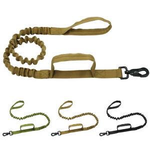 Stretch Elastic Nylon Dog Leash Bungee Dog Training Lead for K9 Pitbull  Black