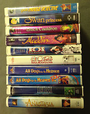 LOT OF 10 CLASSIC CHILDREN'S MOVIES ON VHS -Original Owner -Non Rentals