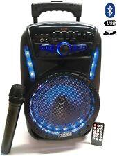 Cassa Acustica Amplificata 300W Trolley Karaoke Bluetooth con Microfono Wireless