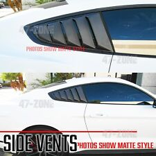 For 15-17 Ford Mustang Gloss Real Carbon Fiber Side Window Quarter Scoop Louver