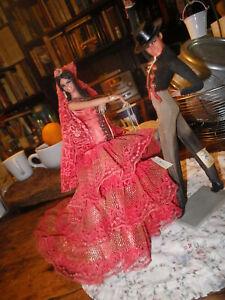Flamenco Danseuse Danse 3D Espagne Breloque 925 Argent Sterling