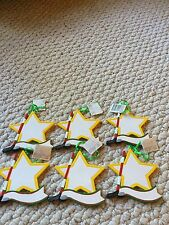 Hockey Star Christmas Ornaments. Lot of 6 Ornaments. NWT. Personalizable.