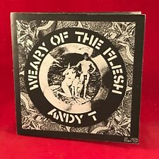 "CRASS ANDY T Weary Of The Flesh - 1982 UK 7"" Vinyl EP EXCELLENT CONDITION single"