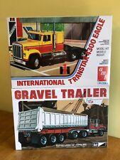 AMT 1/25 International Transtar 4300 Eagle and MPC 1/25 Gravel Trailer