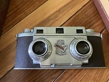 Revere Stereo 33 Camera W/ Leather Case, Stereo Viewer, Flash Guns, And Lenses