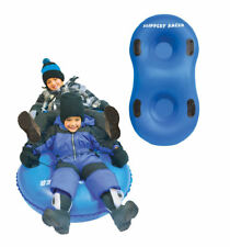 Slippery Racer AirDuel 2-Rider Inflatable Snow Tube Sled - BLUE