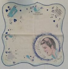 Elvis Presley - Handkerchief - 1956 - EPE - Blue Profile on White