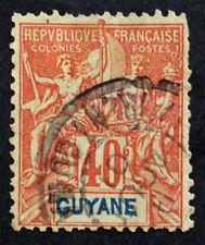 Timbre GUYANE FRANCAISE / FRENCH GUYANA Stamp - Yvert Tellier n°39 Obl (Col4)