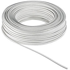 50m Ring 2,5 Hifi Lautsprecherkabel weiß  2x2,5mm²