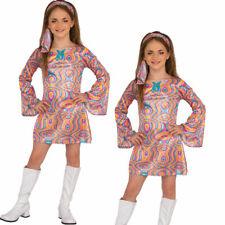 Go-Go Disfraz Niña 70s 80s Disfraz Niños Retro Vestido Recto Edad 3