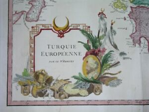 1757 NICE ORIGINAL MAP ROMANIA BULGARIA SERBIA GREECE CROATIA DALMATIA TURKEY