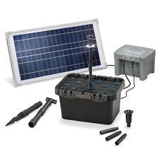 Solar Teichfilter Set 15/500 + Akku LED Solarpumpe Filter Gartenteich 101058