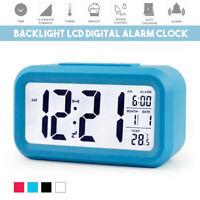 4.5''/3.2'' LCD Digital Alarm Clock Backlight Time Calendar Temperature Home NEW