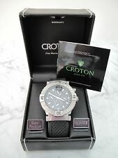 croton silicone rubber wristwatches croton tachymeter men s wrist watch stainless steel water resistant sport band
