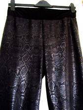 Frank Lyman Black Snake Skin Print Trousers Leggings Animal Pants 14 UK