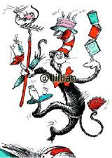 DR SEUSS CAT IN THE HAT JUGGLING PLAIN Cross Stitch PATTERN
