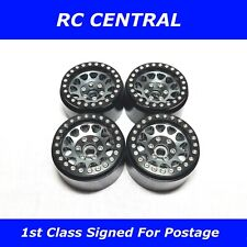 RC 1.9 Alloy Rock Crawler Beadlock Wheels Rim Fits Axial TRX-4 Sport Grey Black