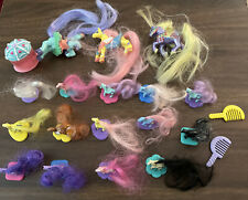Little Beauties Vintage Pony Lot 0f 17 Mtc 1988 Accessories Combs Stands
