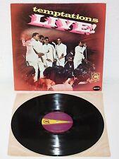 THE TEMPTATIONS LIVE! 1967 LP USA Original Gordy S921 Soul Funk Vinyl