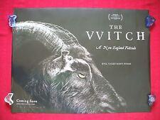 THE WITCH * 2016 ORIGINAL BRITISH QUAD MOVIE POSTER D/S BLACK PHILLIP THE VVITCH