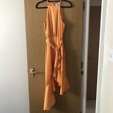 Forever Unique Orange asymmetric midi dress (Lucy's boutique 'Mia') Size 10