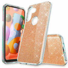For Samsung Galaxy A11 Case Shockproof Glitter Bling Cover/HD Screen Protector
