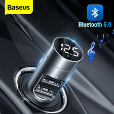 Baseus FM Transmitter Car USB Audio Music Player Radio Charger Adapter Bluetooth