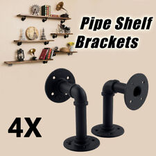 4pcs UK Industrial Steel Pipe Shelf Bracket Holder DIY Decor