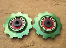 Composants et pièces de vélo vert en alliage