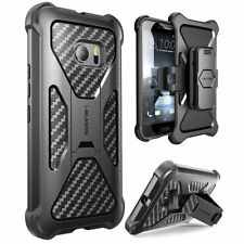 For HTC 10, i-Blason Heavy Duty Dual Layer Combo Holster Cover Case w/ Kickstand