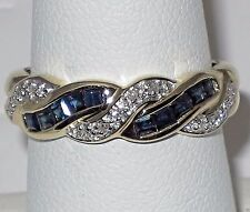 Estate 14k y.gold ring, Sapphire and Diamond, total weight 3.70 gram, size 7