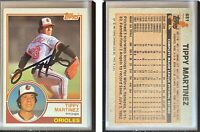Tippy Martinez Signed 1983 Topps #631 Card Baltimore Orioles Auto Autograph