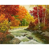 5D Diy Diamond Painting Cross Stitch Diamond Embroidery Landscape Autumn Fo G1L2