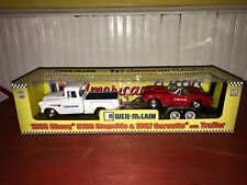 Weil McLain 1/24 Scale 1955 Chevy 5100 Stepside & 1967 Corvette W/ Trailer NIB!!